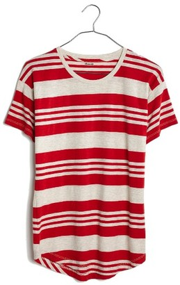 Women's Madewell Whisper Jared Stripe Tee $32 thestylecure.com