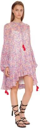 Philosophy di Lorenzo Serafini Floral Print Flared Georgette Dress