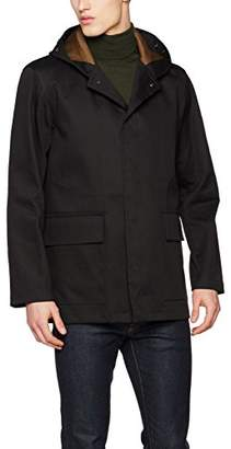 Gloverall Men's Parka Coat, (Black), Medium