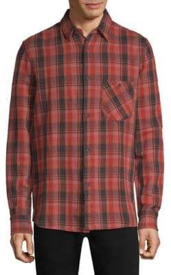 Nudie Jeans Sten Check Print Button-Down Shirt
