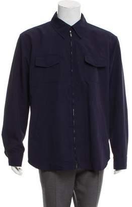 Giorgio Armani Zip-Front Shirt Jacket