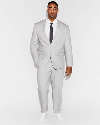 Express Classic Light Gray Cotton Pindot Suit Pant