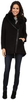 Vince Camuto Fur Hood Sweater Coat J8241 Women's Sweater