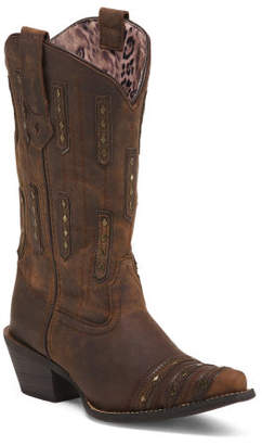 Snip Toe Leather Boots