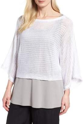 Eileen Fisher Organic Linen Short Sweater