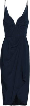 Zimmermann Wrap-effect Gathered Silk Crepe De Chine Dress