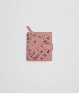 Bottega Veneta Mini Wallet In Boudoir Intrecciato Nappa Leather And Ayers