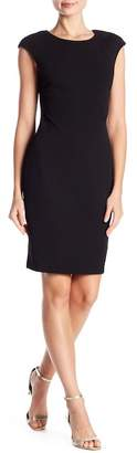 Vince Camuto Cap Sleeve Solid Crepe Dress