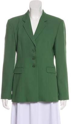 Emporio Armani Wool-Blend Notch-Lapel Blazer