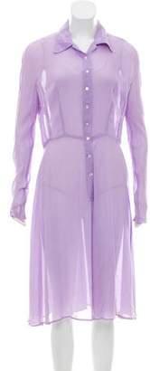 Miu Miu Long Sleeve Midi Dress