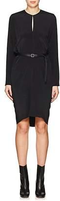 Zero Maria Cornejo Women's Libe Silk Crepe Belted Dress - Black