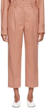 Acne Studios Pink Wool and Cashmere Flannel Trousers