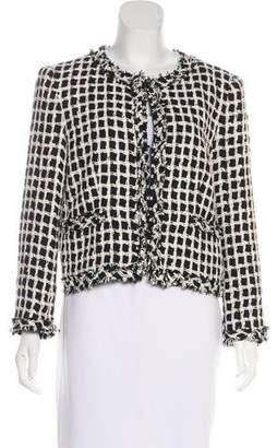 Alice + Olivia Collarless Tweed Jacket
