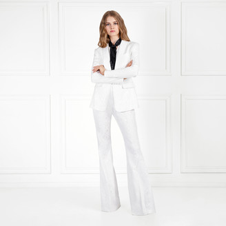 Rachel Zoe Liv Stretch Moire Wide-Leg Pants