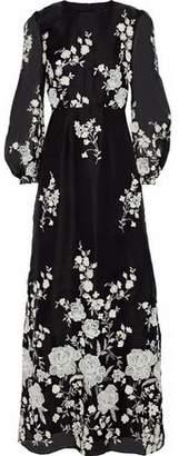 Co Embroidered Organza Maxi Dress