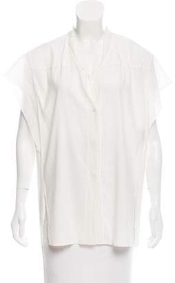 Donna Karan Sleeveless Silk-Trimmed Top w/ Tags