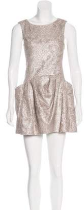 Theyskens' Theory Dilliam Metallic Dress