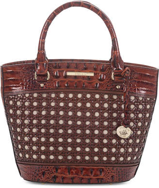 Brahmin Small Bowie Lima Leather Satchel