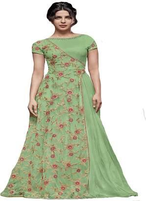 SHRI BALAJI SILK & COTTON SAREE EMPORIUM Priyanka Chopra Bollywood Collection Anarkali Salwar Kameez suit Ceremony Muslim 8760
