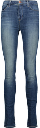J Brand Maria high-rise skinny jeans $238 thestylecure.com