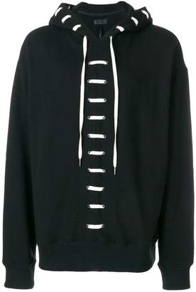 D.Gnak lace-up hoodie