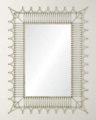 Mirror Image Antiqued Iron Silver Mirror