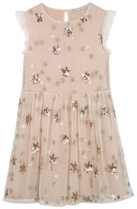 Mint Velvet Gold Sequin Star Party Dress