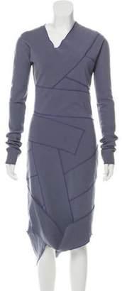 Maison Margiela Wool Midi Dress Indigo Wool Midi Dress