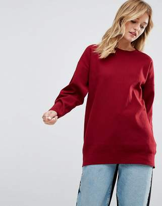 Asos Oversized Sweater With Crew Neck In Structured Yarn