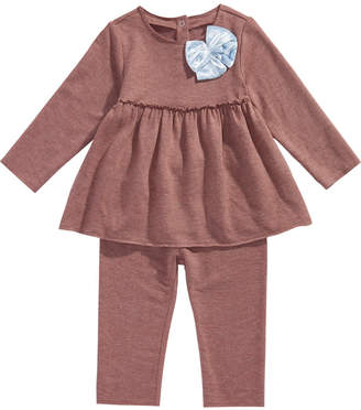First Impressions Baby Girls 2-Pc. Bow Tunic & Leggings Set