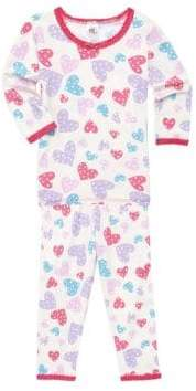 Toddler's, Little Girl's & Girl's Two-Piece Print Pajama Top & Pants Set