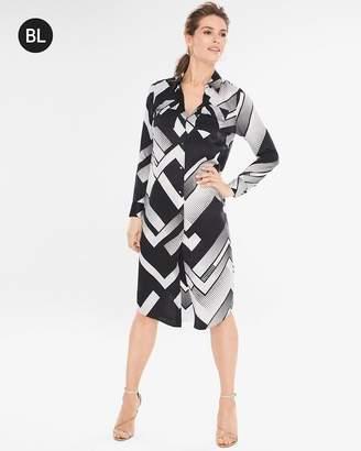 Black Label Silk Button-Down Dress