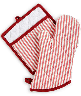 Martha Stewart Collection Striped Oven Mitt & Pot Holder Set, Created for Macy's