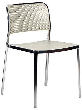 Kartell Audrey Chair Polished Light Gray