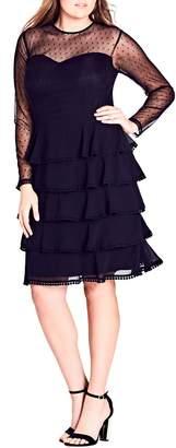 City Chic Sweet Tier Dress