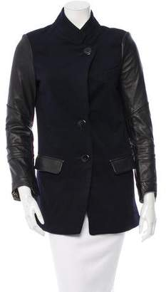 Veda Wool Leather-Paneled Jacket