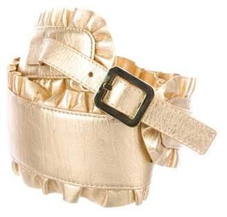 Chloé Metallic Ruffle Belt