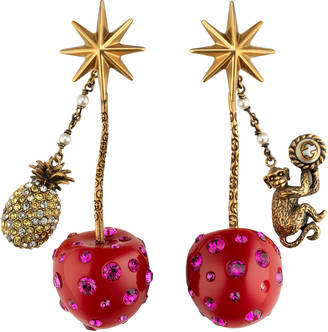 Cherry pendant earrings $1,100 thestylecure.com