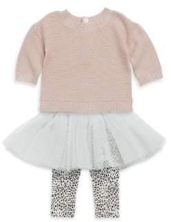 Baby Girl's Two-Piece Rib-Knit Sweater & Leggings Set