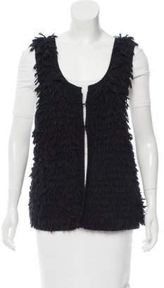 IRO Fringe Button-Up Vest