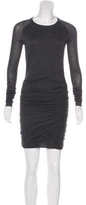 A.L.C. Ruched Lace-Paneled Dress