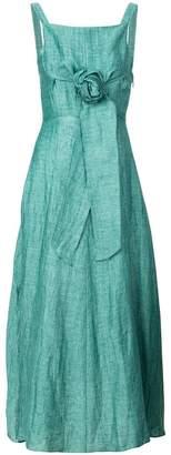 Masscob waist-tie lightweight dress