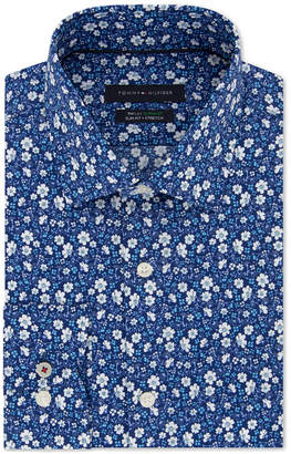 b3dc01573 Tommy Hilfiger Men Slim-Fit THFlex Supima Stretch Non-Iron Floral Dress  Shirt