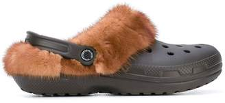 Christopher Kane fur trim Crocs clogs