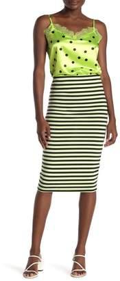 Cotton On Amy Strapless Bodycon Stripe Print Mini Dress