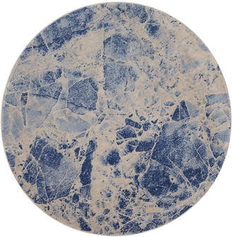 "Nourison Closeout! Moraine MO745 Blue 5'6"" Round Area Rug"
