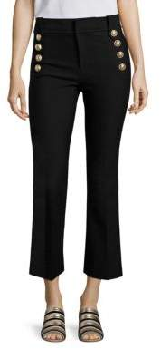 Derek Lam 10 Crosby Cropped Flared Sailor Trousers