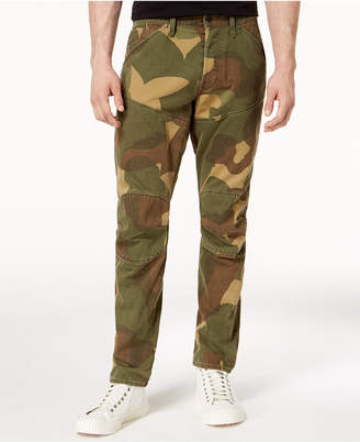 G Star Men's 5620 3D Tapered-Fit Camouflage Jeans
