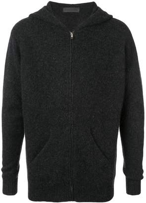 The Elder Statesman zipped knitted hoodie