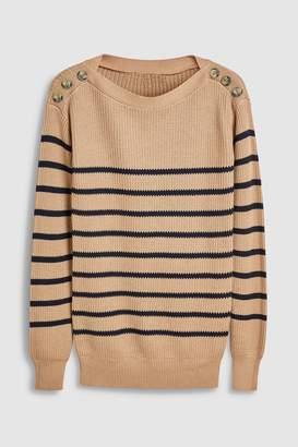 Next Womens Rose Stripe Boat Neck Sweater